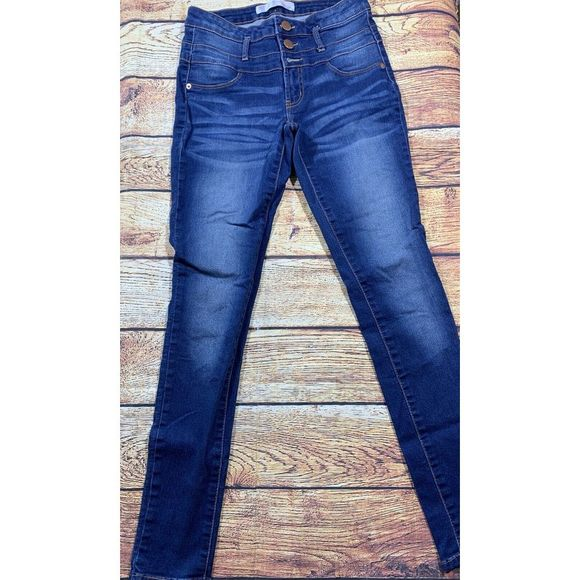 No Boundaries Girls Blue High Jeans 7